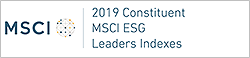 Constituent of the MSCI Global Sustainability Index, WORLD ESG LEADERS