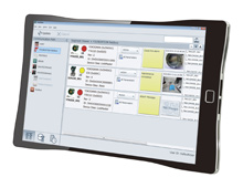 FieldMate screen on a tablet PC