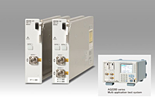 Left: AQ2200-131, AQ2200-132 Grid TLS modules, Right: AQ2200 multi-application test system