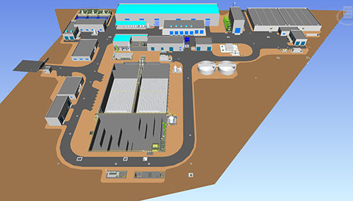 Provisur Seawater Desalination Plant architectural drawing