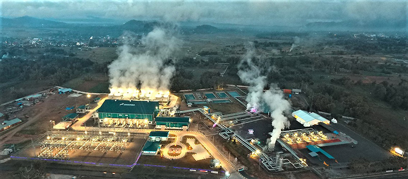The Lahendong geothermal power plant