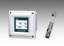 left: FLXA402 4-wire liquid analyzer right: SA11 SENCOM smart adapter